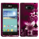 Phone case For LG Spendor US730 / Venice 730 Hard Case L-Flower Cover +Screen Protector