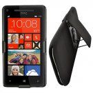 Phone Case For HTC Window Phone 8X 4G LTE Holster Belt Clip wStand + Hard Case Black Cover