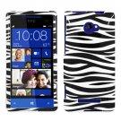 Phone Case For HTC Window Phone 8X 4G LTE Hard Case Zebra Phone Cover