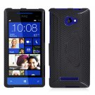 Phone Case For HTC Window Phone 8X 4G LTE Hard Case Carbon Fiber Cover +Screen Protector