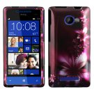 Phone Case For HTC Window Phone 8X 4G LTE Hard Case L-Flower Phone Cover
