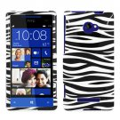 Phone Case For HTC Window Phone 8X 4G LTE Hard Case Zebra Cover +Screen Protector