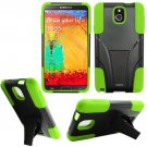 Phone Case For Samsung Galaxy Note 3 Silione Corner Neon/Black Hard Cover Stand