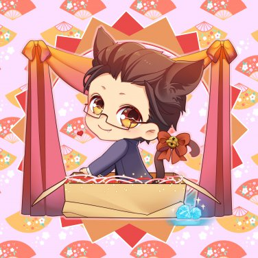Pillow Ver 17 - Katsu-Cat in the Box