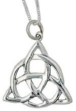 Charmed Necklace CH1 Sterling Silver Celtic Knot Triquetra Pendant on Chain