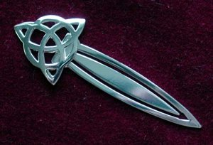 Charmed Bookmark Celtic Triquetra Knot Silver on Pewter CHBK