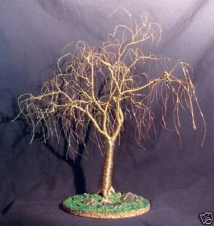 Winter Willow  Wire Tree Sculpture