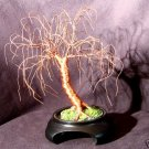 Dark Copper Oak, wire tree sculpture - by Sal Villano