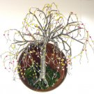 Beaded on Round Base - wall art