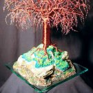 Mystical Island, wire tree sculpture - by Sal Villano
