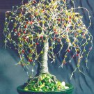 Multi Color Oak, wire tree sculpture - by Sal Villano