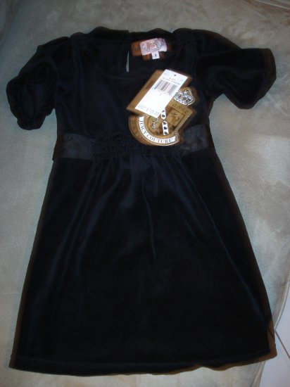 NWT Juicy Couture Blk Velour Dress