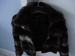 Club Monaco Faux Fur Bomber Jacket