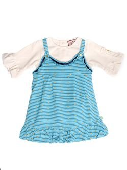 NWT-Juicy Couture Baby - Racerback Bubble Dress, Seven Seas