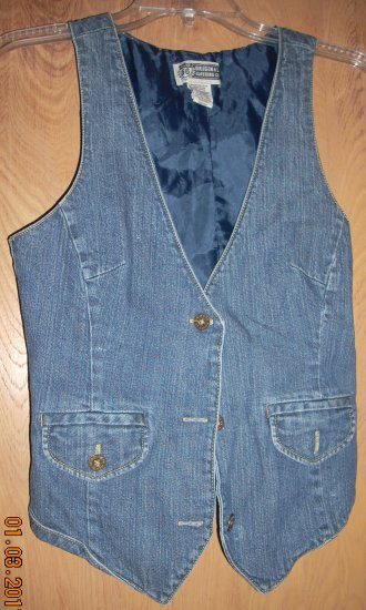 Womens Blue Jean Vest by Route 66 Original Clothing Co.
