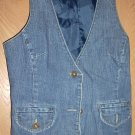 Womens Blue Jean Vest by Route 66 Original Clothing Co.