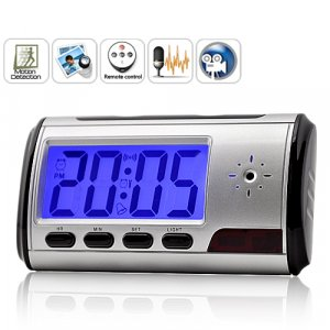 Digital Clock Camcorder DVR * Remote and Motion Activation