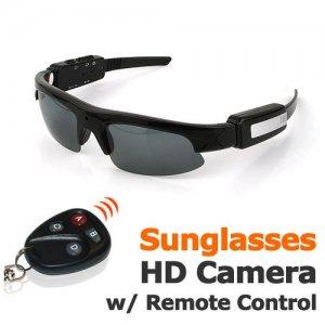 Stylish Video Sunglasses DVR * Remote Control Operation