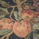 Fruit & Floral Warm Colors on Deep Blue Wall Tapestry New