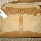Ellen Tracy Tan Camel Microfiber Leather Purse Handbag New