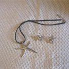 Silver Star Pendant & Earring Set New