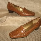 Bandolino Light Brown Leather Loafer Shoes Size 9 M New