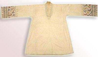 OLD UZBEK GOWN CHEMISE COTTON UNDER GARMENT DRESS