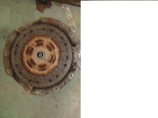 S13 SR20DET CLUTCH AND PRESSURE PLATE(WORN)