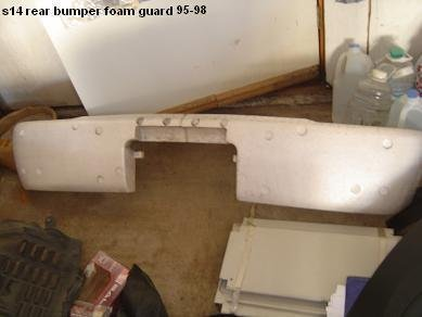 s14 240sx oem rear bumper foam guard