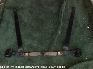 s13 89-94 240sx coupe rear seat belts