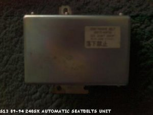 s13 240sx automatic seat belt control unit