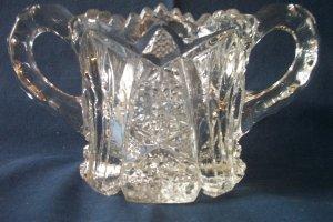 Vintage Cut glass/crystal Sugar bowl