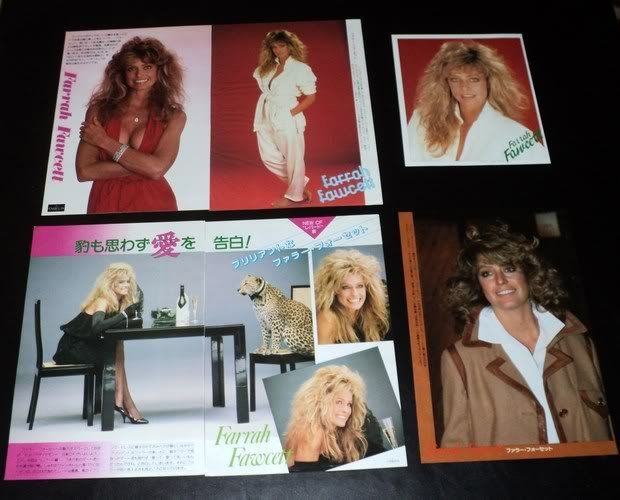 Farrah Fawcett clippings pack #4 80s Japan FINAL SALE!