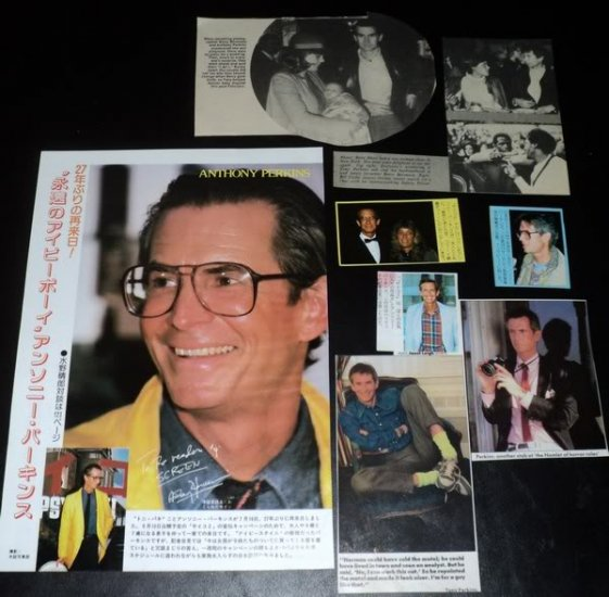 Anthony Perkins clippings pack Japan 80s, 70s FINAL!
