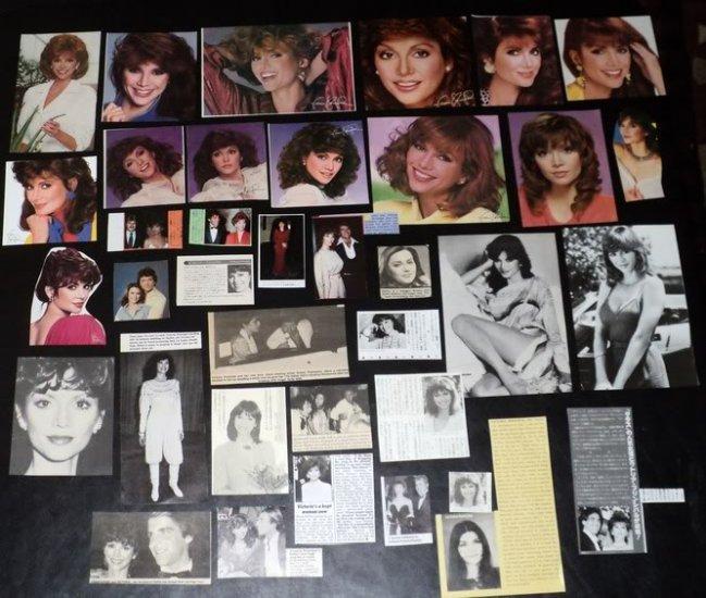 Victoria Principal clippings Dallas 70s 80s FINAL SALE