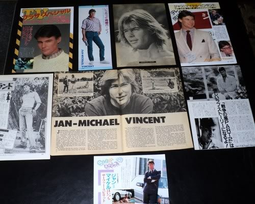 Jan-Michael Vincent clippings USA 70s Japan 80s FINAL