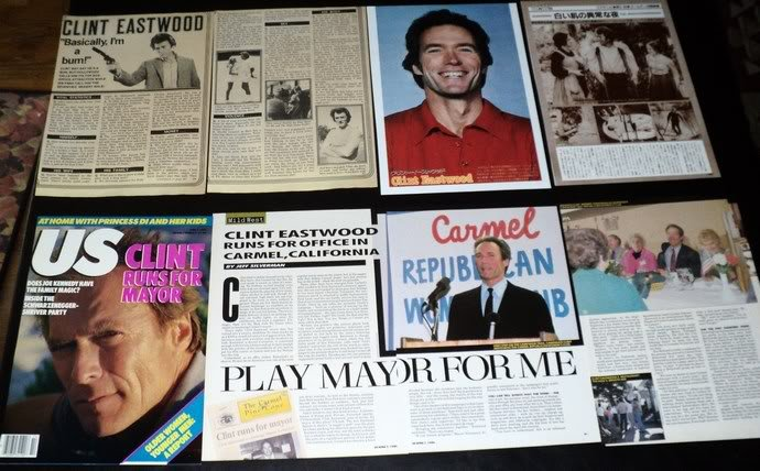 Clint Eastwood clippings pack #1 FINAL SALE