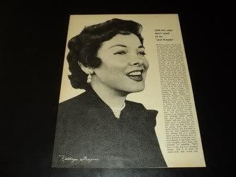 Kathryn Grayson / Elizabeth Taylor clipping Summer 1954