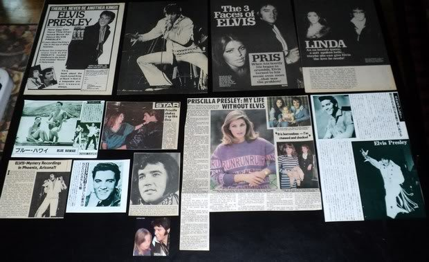 Elvis Presley and Priscilla Presley clippings pack