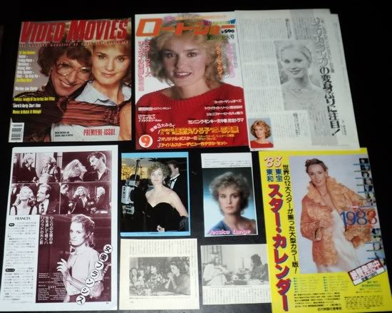 Jessica Lange clippings pack 80s Japan