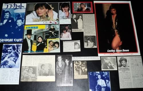 Lesley-Anne Down clippings pack FINAL SALE