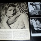 Gene Tierney clippings pack