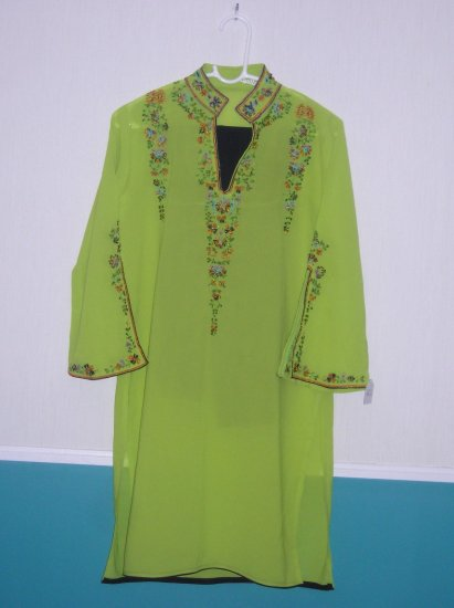 Shalwar Kameez - Green and black Georgette