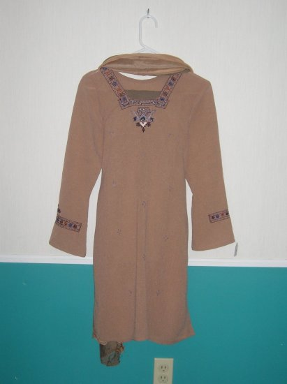 Shalwar Kameez - Light Brown Georgette