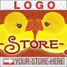 Kissing Rubber Duckies Retro Cute eCRATER Store Y-S-H LOGO