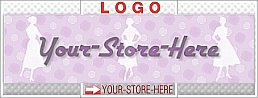 Fifties Women Purple Polka Dots eCRATER Store Y-S-H LOGO