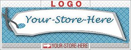 Your Very Own Price Tag Blue Gray eCRATER Store Y-S-H LOGO