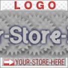 Blue Gray Gear Sale Unique Design eCRATER Store Y-S-H LOGO