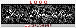 Black & White Lace Elegance eCRATER Store Y-S-H LOGO