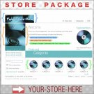 CDs Music Software eBook Shop - Custom Y-S-H eCRATER Store Package